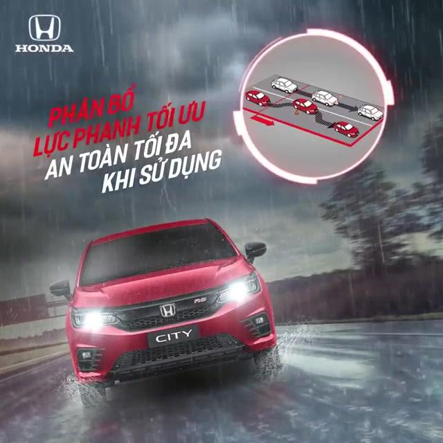Honda City | Phân bổ lực phanh tối ưu - An toàn tối đa khi sử dụng